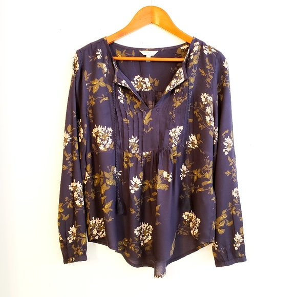 🛍 $5 w/Bundle! Lucky Brand Flowy Floral Blouse S